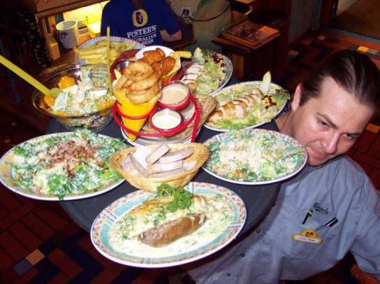 Essen im Pap Joe's