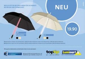 beleuchteter Regenschirm