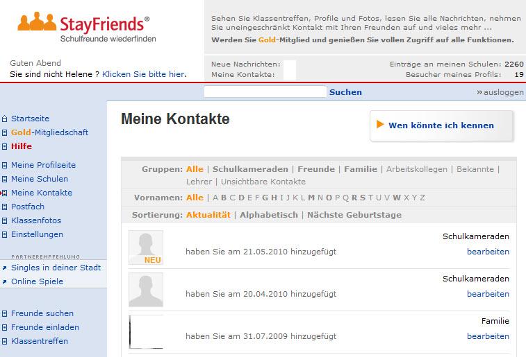 Stayfriends – Alte Schulfreunde wieder finden!