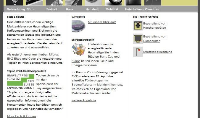 Topten.ch – Der Klick zum besten Produkt!