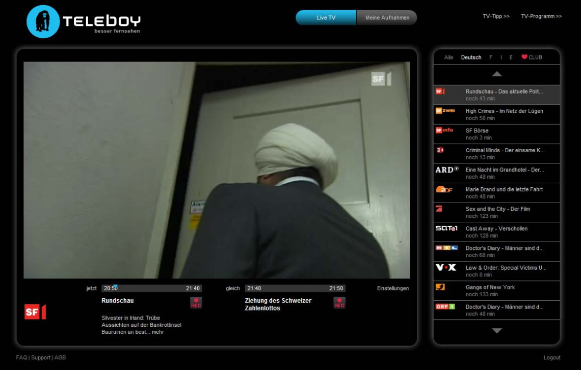 Teleboy Online-TV-Dienst ab jetzt gratis