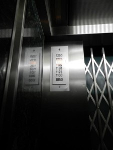 Lift in den 102 Stock