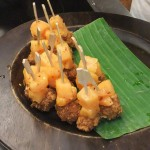 Crispy Tofu-Melonen-Spiesse