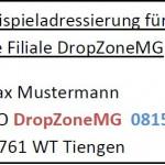 DropZone Lieferadresse