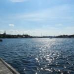 Schöne Sicht auf Stockholm