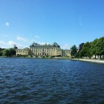 Schloss Drottningholm Sicht Schiff
