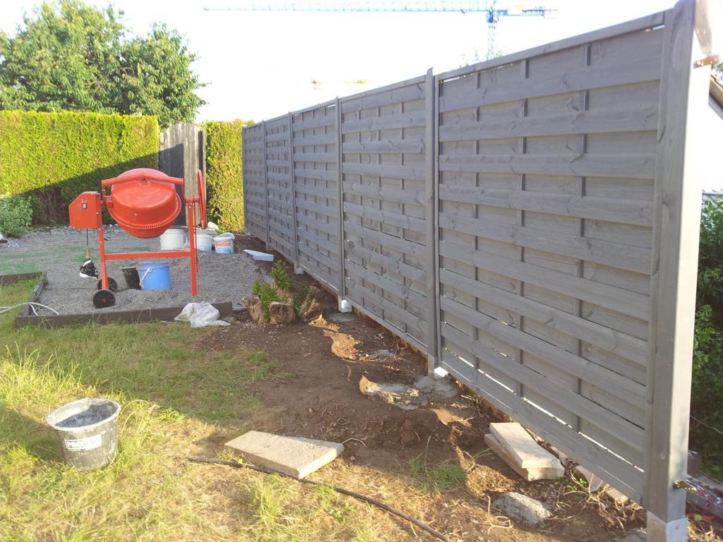 Umbau Garten 2014 – Teil 2 – neue Sichtschutzzäune