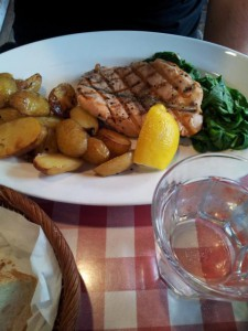 Mittagessen Fisch