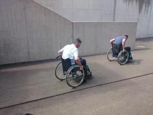 Rolllstuhl-Rennen