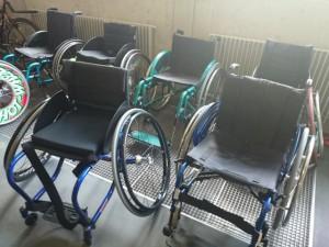 Rollstühle zum Testen