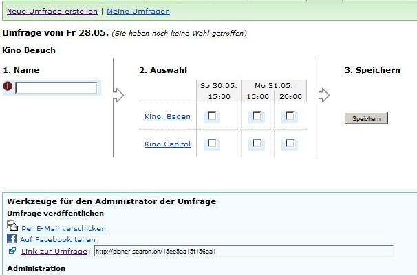Planer.search – Neues Umfrage Tool von tel.search.ch
