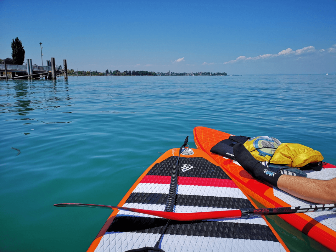 Stand up Paddle – SUP am Bodensee, Horn, Juli 2018